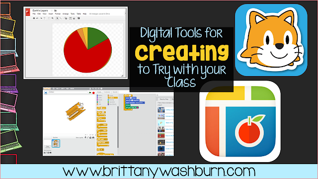 When I asked my technology teacher friends to name their favorite creation tools, they had the best ideas! I've complied them into a list with hyperlinks to the tools so that you can give them a try with your classes.