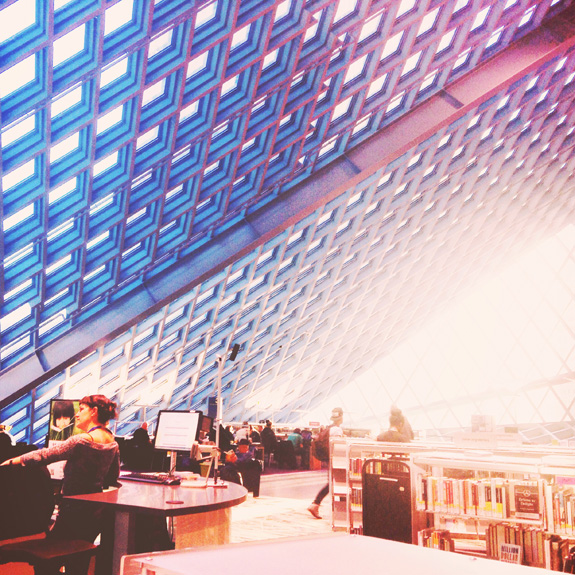 most instagrammable places in seattle library
