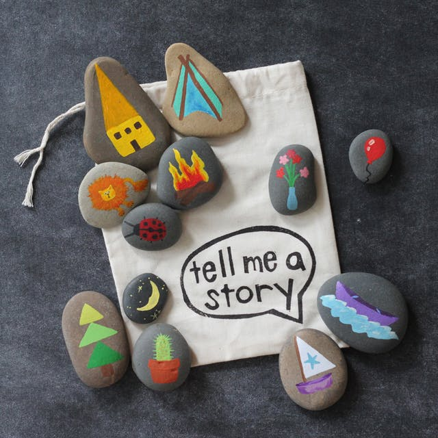 story stones for kids rock painting ideas