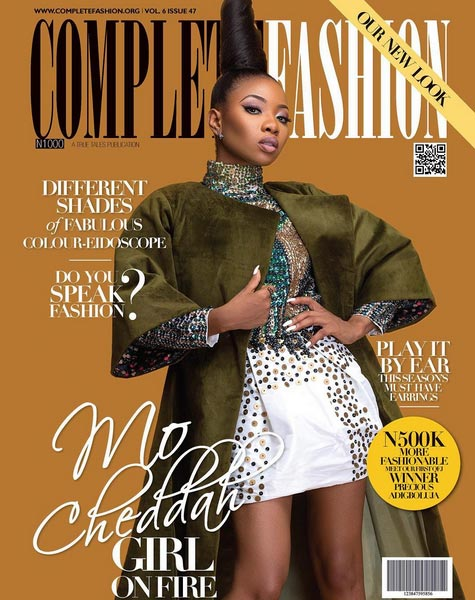 Mo Cheddah covers frontpage of Complete Fashion magazine