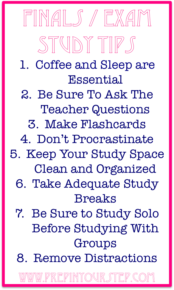 Prep In Your Step: Finals / Exam Week Study Tips