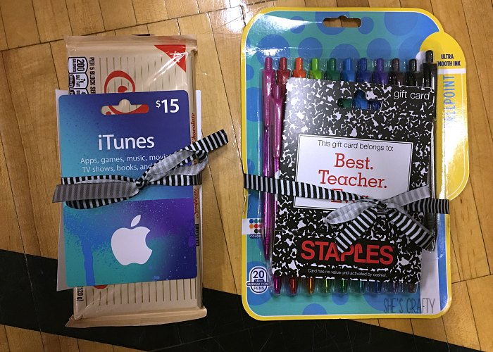itunes gift card, teachers, gifts, staples