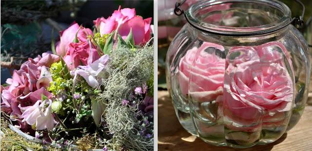Blumen in Rosa - zarte Floristik