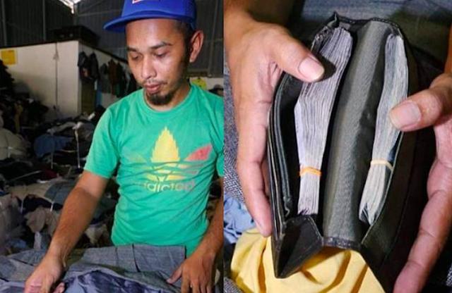 Pria ini Mujur Sekali, Beli Pakaian Sisa Dia Justru Bisa Uang Tunai Rp 68 Juta di Dalam Kantong Pakaian Yang Dibelinya