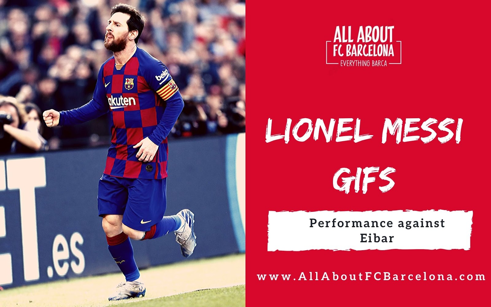 Lionel Messi Five Star Performance Against Eibar In Gifs Barca Images Gifs