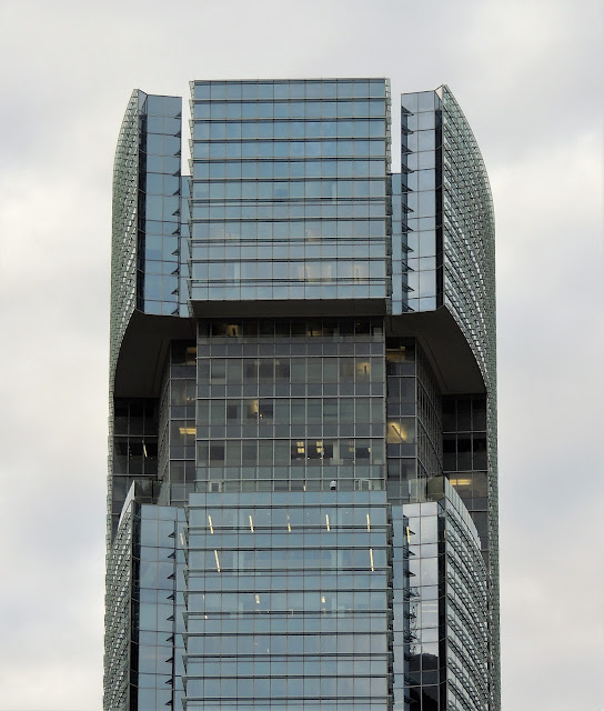 Top of BG Group Tower - East-facing side (Dec 2016 photo)