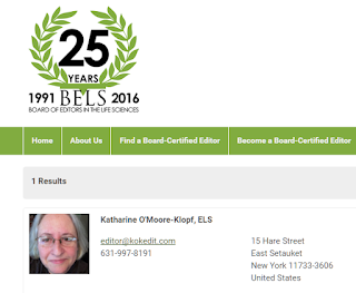 Directory listing for an editor with BELS certification