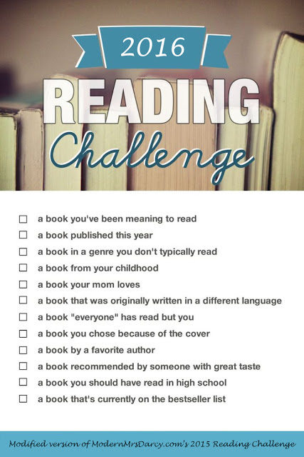 2016 Reading Challenge Overview