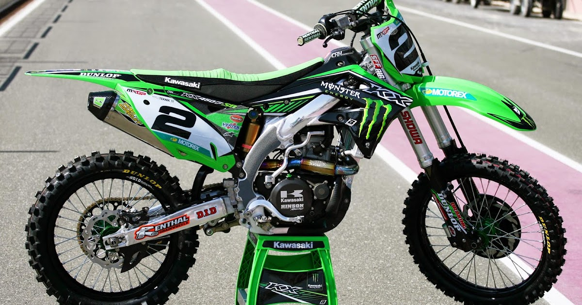 Racing Caf 232 Kawasaki Kx 450f R Villopoto Team Monster