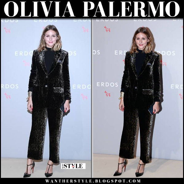 Olivia Palermo at Erdos show in Beijing in velvet suit celebrity style august 29 2017
