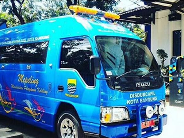 Mobil Mepeling Disdukcapil Kota Bandung