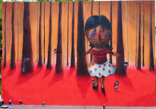 Street Art By Mexican Artist Sens In Queretaro For Board Dripper Urban Art Festival. wall 2