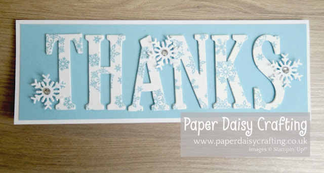Large Letters Stampin Up, Beautiful Blizzard