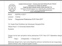 Jadwal Pelaksanaan PLPG Tahun 2017 Rayon 113 UNS Surakarta