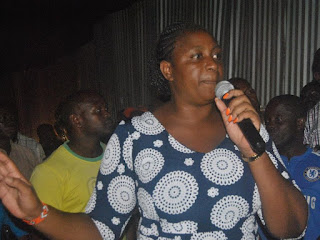 Aisha Jumwa beat Mtengo in Malindi. She was speaking with his supporters at Barani. PHOTO | Courtesy