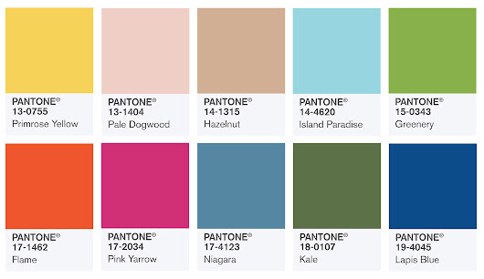 Pantone's Colors for Spring 2017