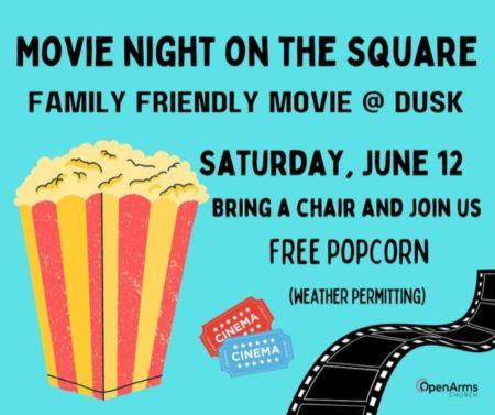 6-12 Movie Night On The Square