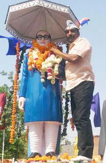 Aam Aadmi Party leader Giriraj Sharma remembers Dr. Baba Bhimrao Ambedkar