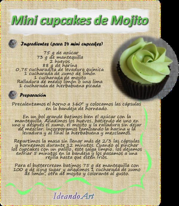 Receta cupcakes mojito