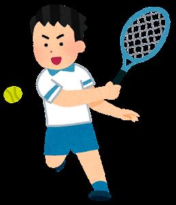 テニス選手のイラスト(アジア人男性)