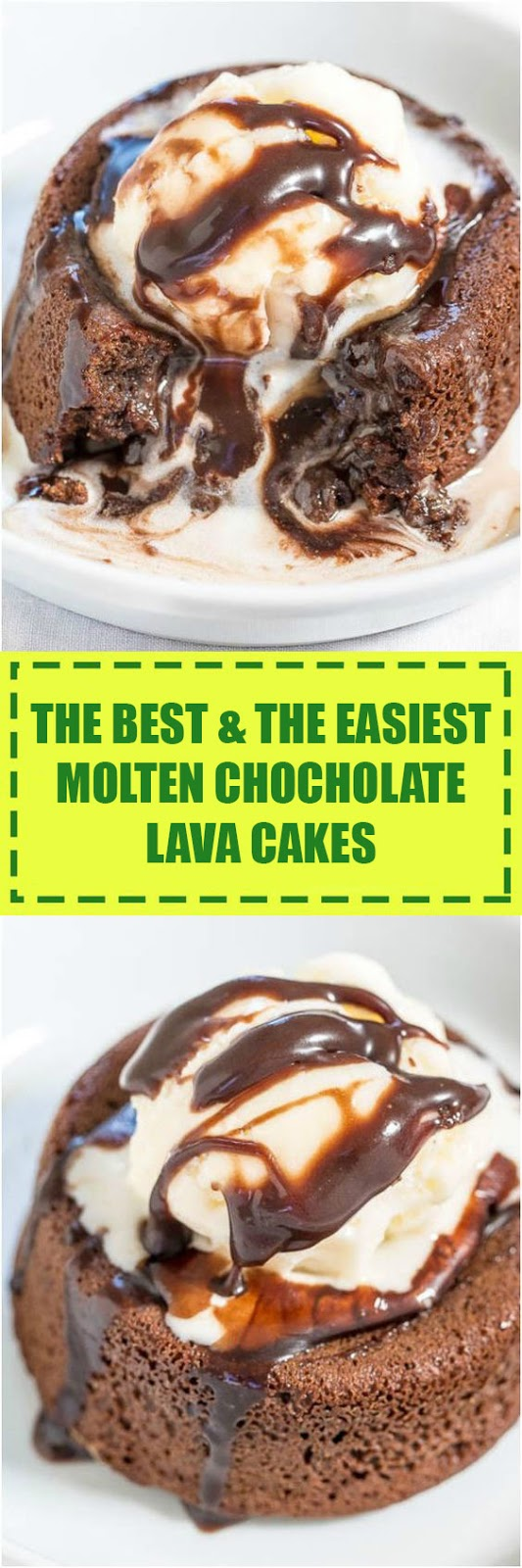 Easy Molten Chocolate Lava Cakes