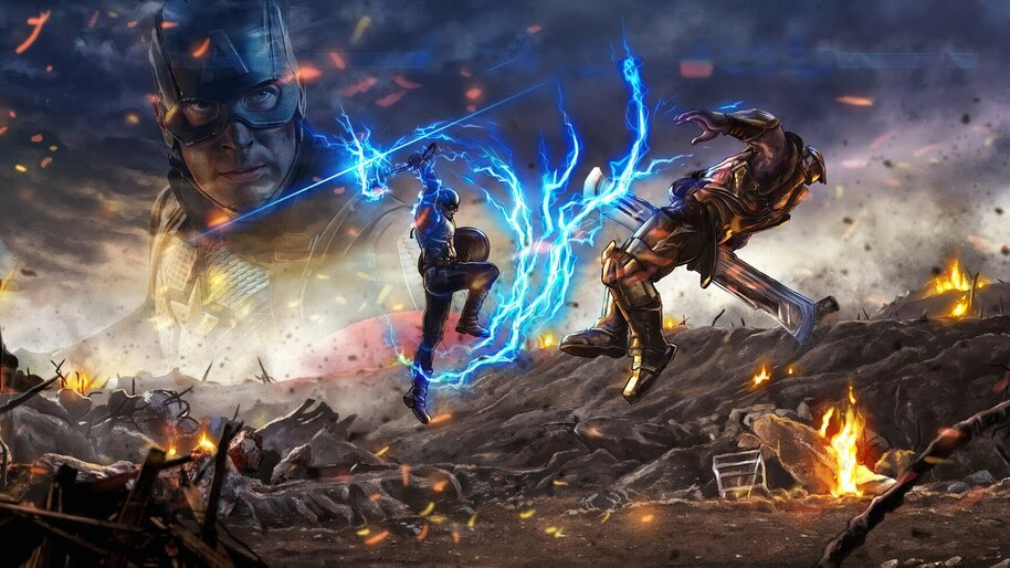 Captain America Vs Thanos 4k Wallpaper 31603