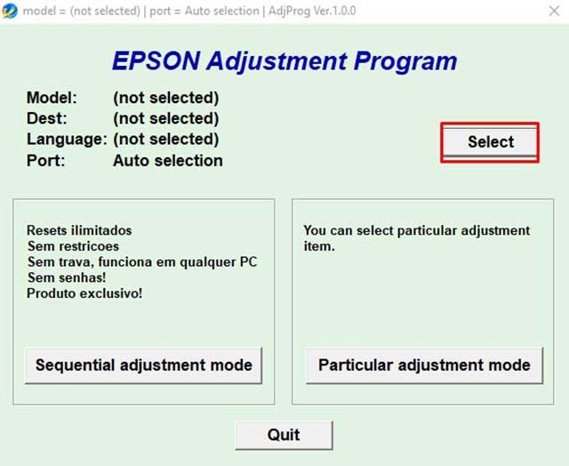 seleccionar el modelo impresora epson l365