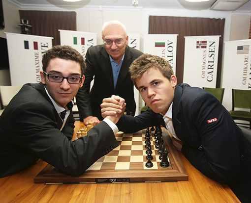 Le championnat du monde d'échecs entre Magnus Carlsen et Fabiano Caruana n'est plus que dans une semaine ! Cette photo a été prise par le légendaire photographe écossais Harry Benson pendant la Sinquefield Cup 2014 - Photo © Harry Benson
