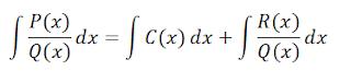 integrales racionales mismo grado