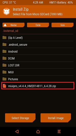 Pilih Rom MIUI Pro - Ganti Custom ROM MIUI Pro Redmi 2 dengan Mudah via TWRP