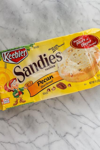 Salted Peanut Butter Shortbread Bars   The Chef Next Door #BiteSizedBitsOfJoy