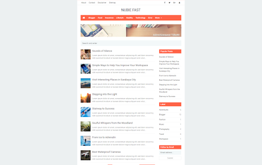 Nubie Fast Blogger Templates - Kaizentemplate - Rebuild Another Awesome Blogger Templates