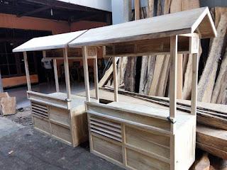 cara membuat gerobak dorong kayu