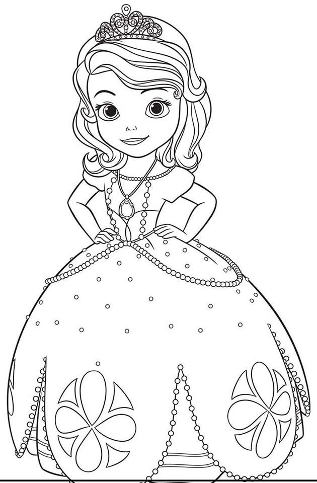 Princesa Sofía colorear