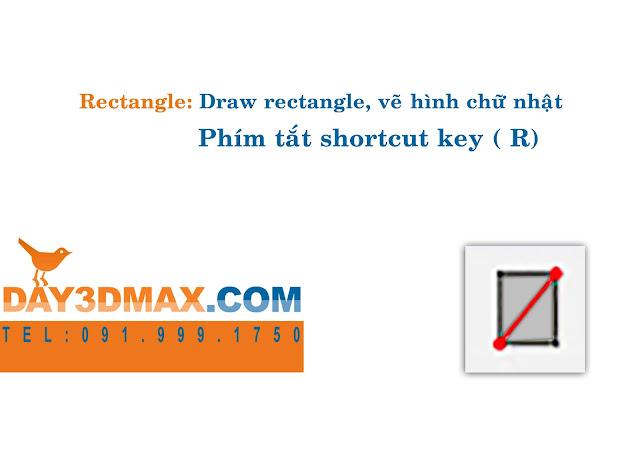 Học 3d sketchup 6 hướng dẫn vẽ hình chữ nhật learning sketchup study 3d  how to use rectangle tool
