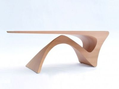 A futuristic-looking 3D table