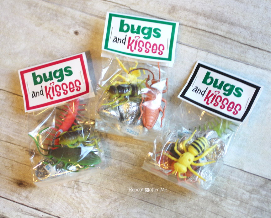 image relating to Bugs and Kisses Printable titled Insects and Kisses Valentine - Repeat Crafter Me