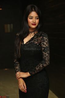 Actress Monica in spicy transparent Black Top at O Pilla Nee Valla Movie Audio Launch Feb 2017 153.JPG