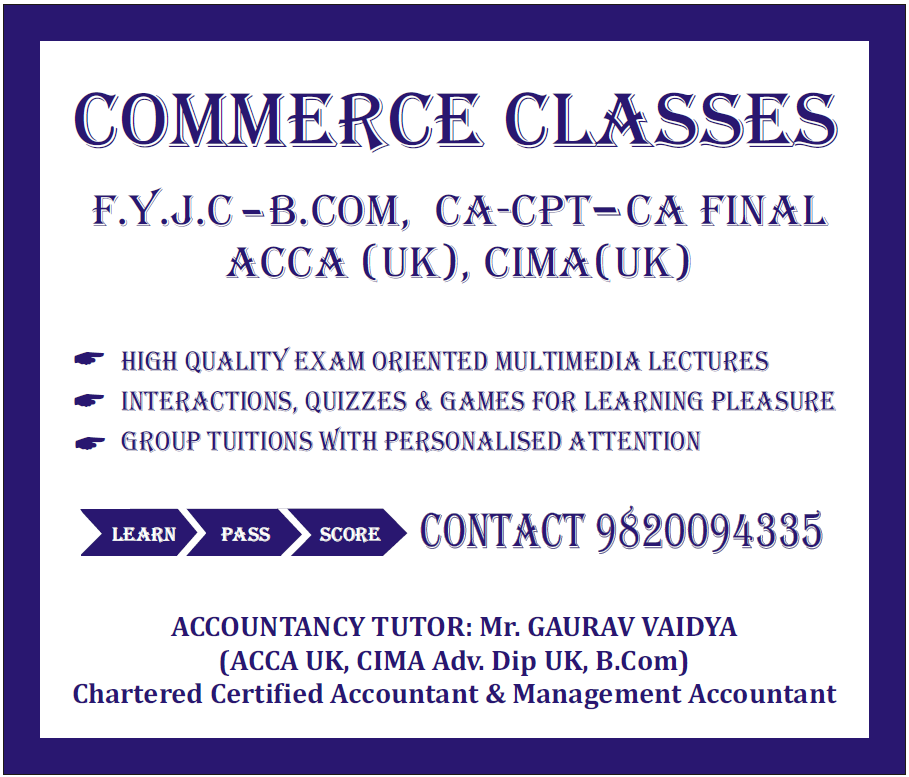 Vaidya Tutorials Commerce Classes For ACCA CIMA CMA CFA