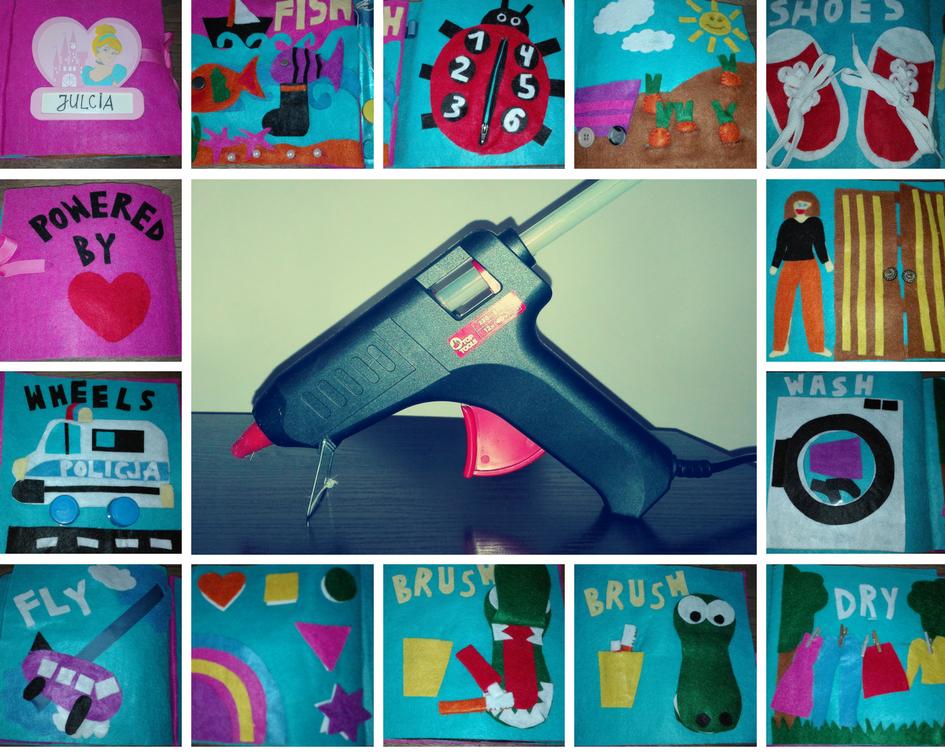 DIY Quiet Book - how to kill the time with a hot glue gun/ Książeczka sensoryczna DIY - jak zabić czas za pomocą pistoletu na gorący klej