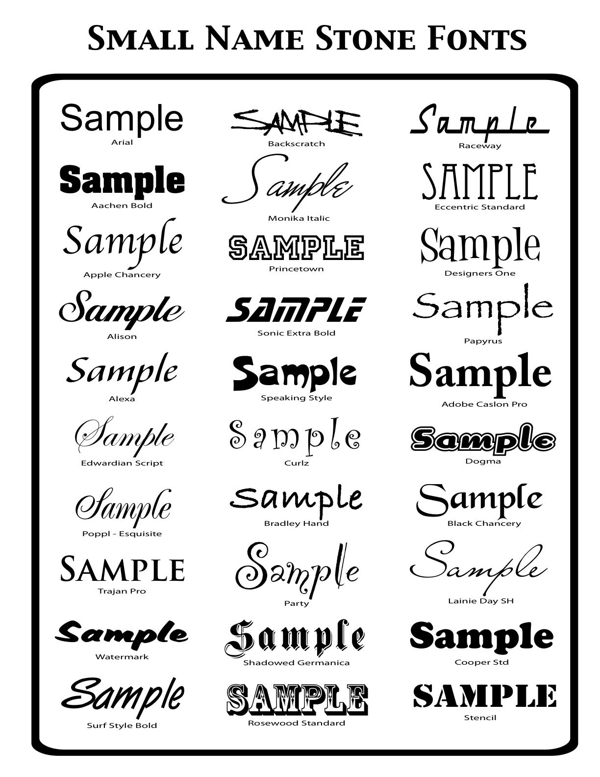 Font+Sheet