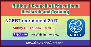 NCERT Recruitment 2017 - Apply for Project Helper, DTP Operator, Accountant & Various post
