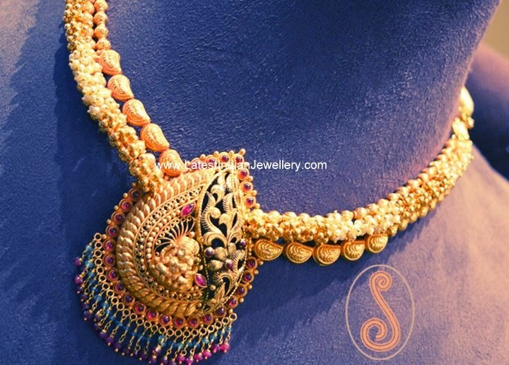 Latest Designer Temple Jewellery Necklace