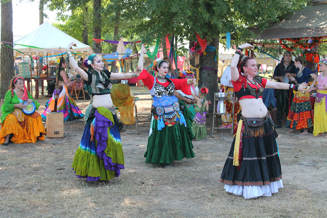 Renaissance Faire gypsies, belly dancers, Texarkana