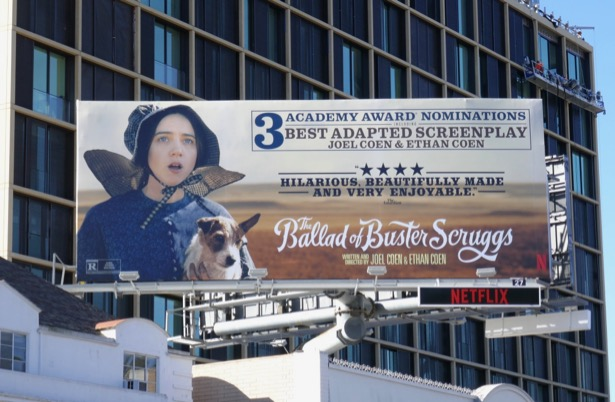 Ballad Buster Scruggs Oscar billboard