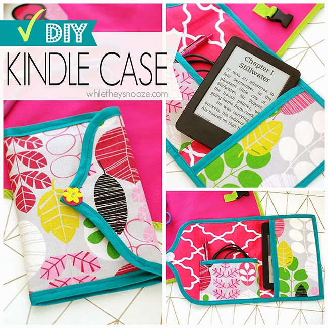 While They Snooze: DIY Kindle Case