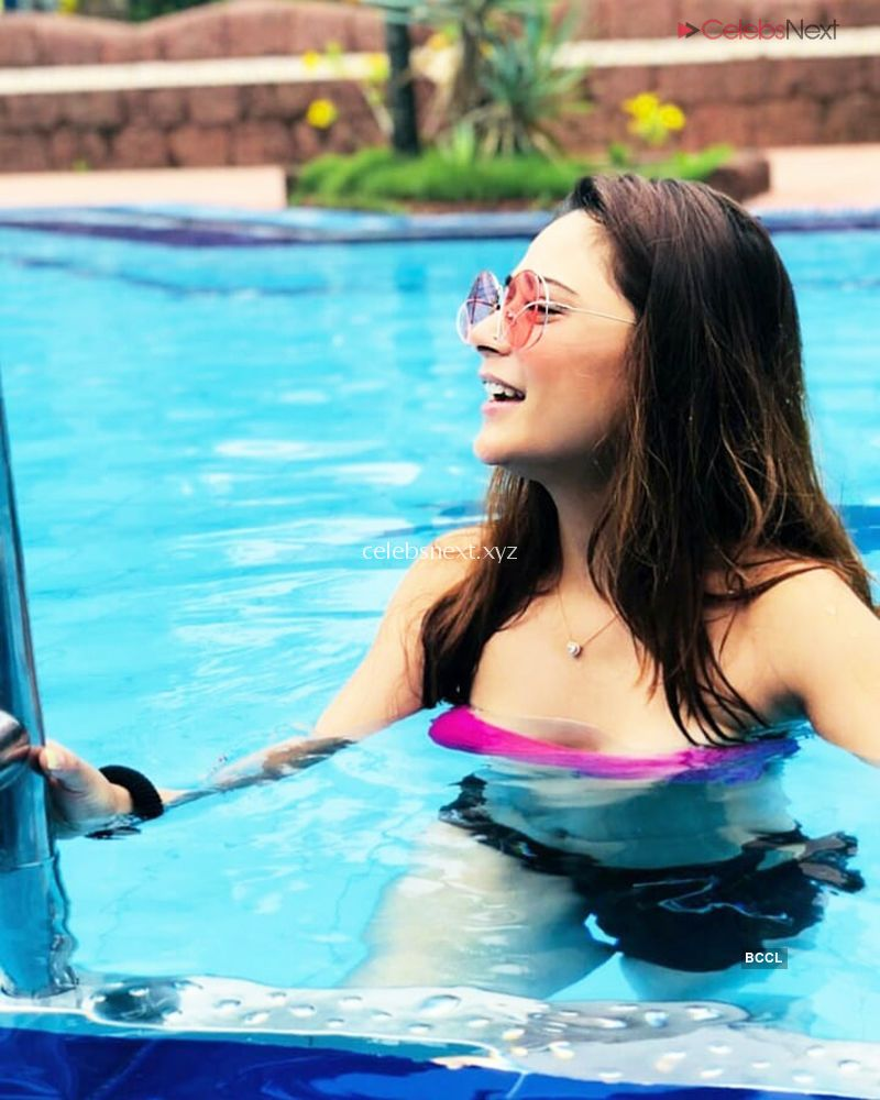 Beautiful And Gorgeous Sara Khan in Bikini TV Actress in Bikini - Celebsnext Exclusive Pics