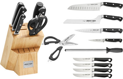 Ergo Chef Pro Series 11 Pc. Knife Block Set w/ Forged Steak Knives U.S. Giveaway