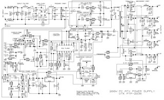 200 Watt ATX Power Supply Schematic