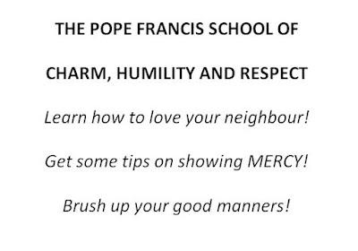 Pope Francis charm school